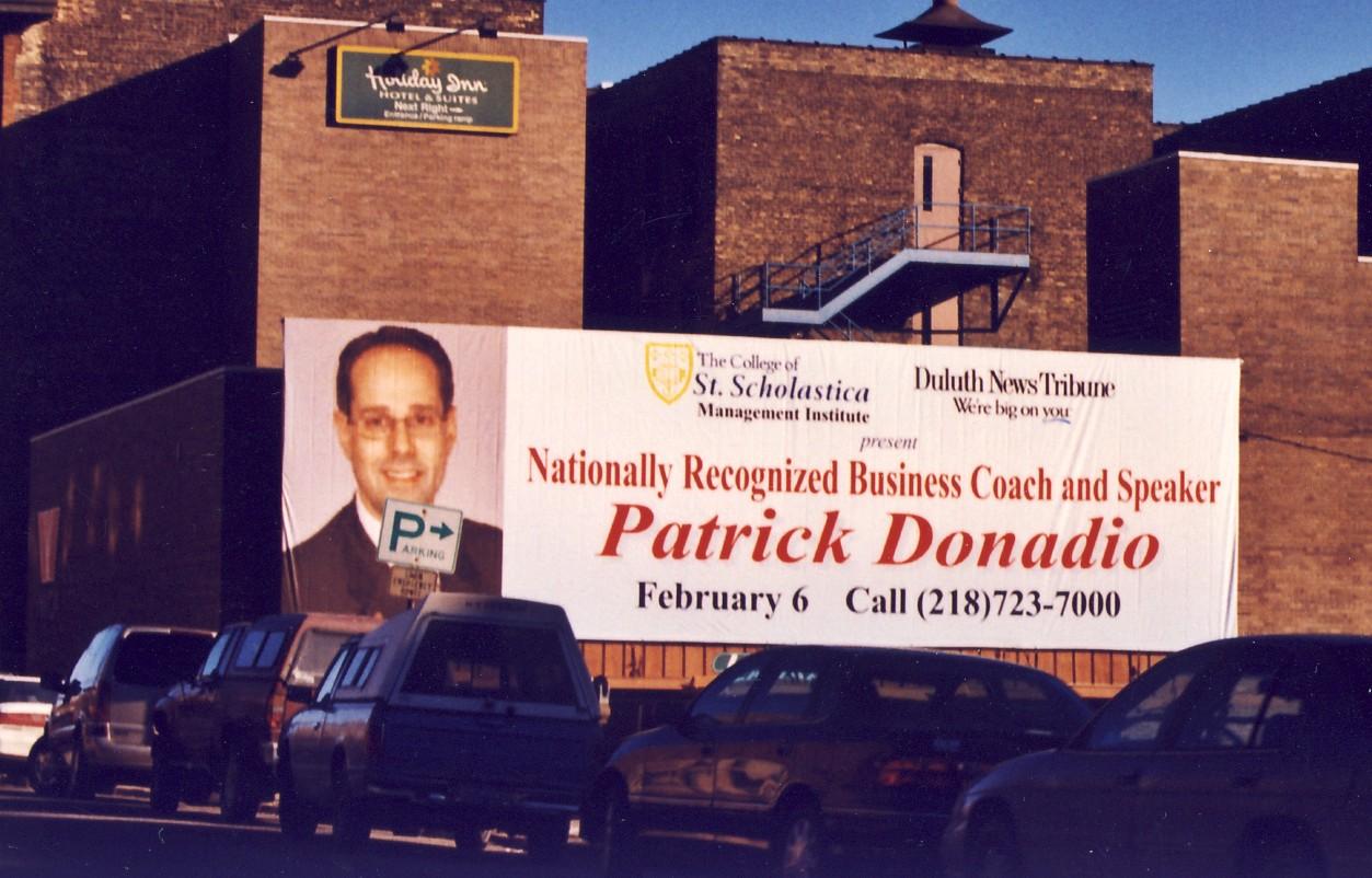 Patrick Donadio on a Billboard