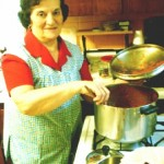 My Mom cooking in the kitchen
