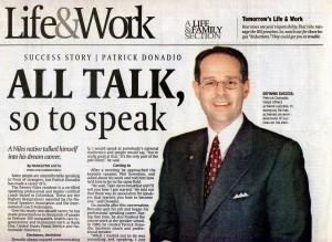 Patrick Donadio in Life & Work Newspaper